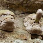 金刀比羅宮-天狗とカラス天狗の彫物-