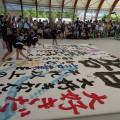 うどん県 書道パフォーマンス大会 in サンポート高松