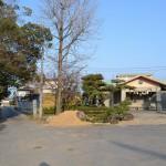 田村神社 「袂井(たもとい)」・「腰かけ石」に向かう道