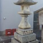 丸亀・金比羅街道 神野神社前の石灯籠