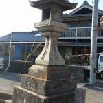 丸亀・金比羅街道 角下組石燈籠と七十丁