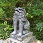 汐木山荒魂神社 二の鳥居 狛犬