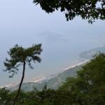 高屋神社 参道からの景色
