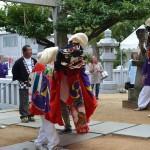 熊野神社(松縄)秋季大祭 松縄北組獅子舞