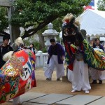 熊野神社(松縄)秋季大祭 松縄下所獅子舞