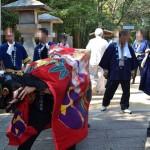 鴨部神社秋季大祭 鴨部中筋獅子保存会