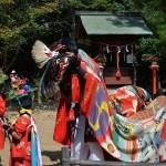 鴨部神社秋季大祭 川西獅子舞保存会