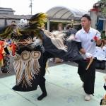 履脱八幡神社 秋季大祭 朝日獅子舞